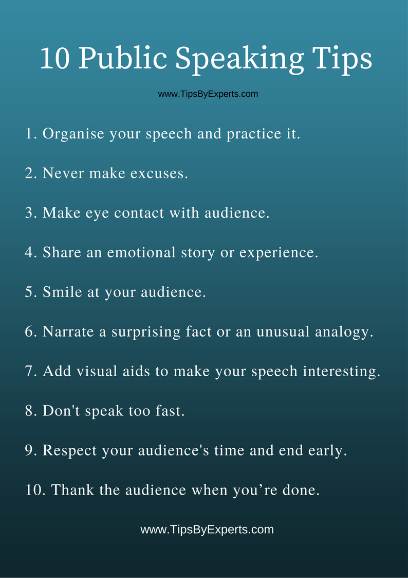 10 Public Speaking Tips Tips By Experts